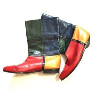 Vintage Vaneli color block boots 8.5